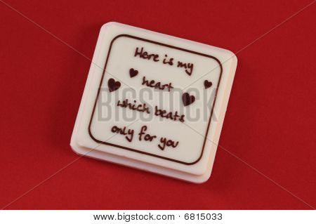 Valentines Day Chocolate On Red Background