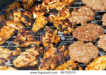 Fresh meat shish kebab