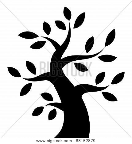 Black Bold Tree icon