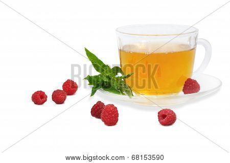 Tea With Raspberry And Spearmint