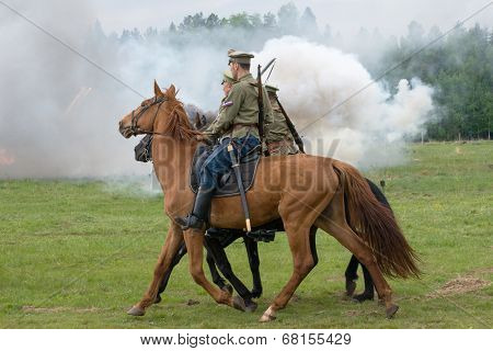 Cavalry Soldiers Ride