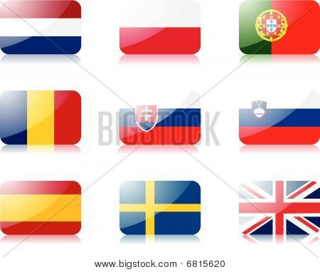 European union flags set 3
