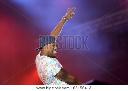 Dr Locksmith from band Rudimental performs at Exit Festival, Novi Sad