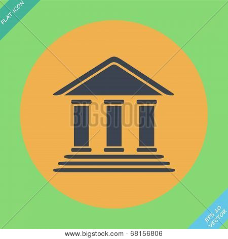 Bank building - vector illustration. Flat design