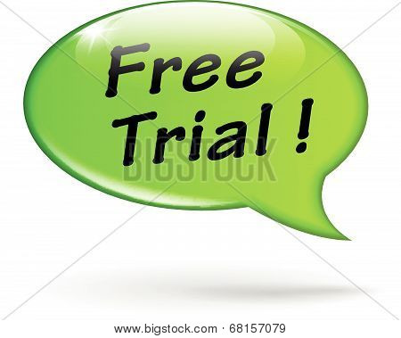 Vector Free Trial Speech Bubble