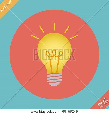 Lightbulb icon - vector illustration.