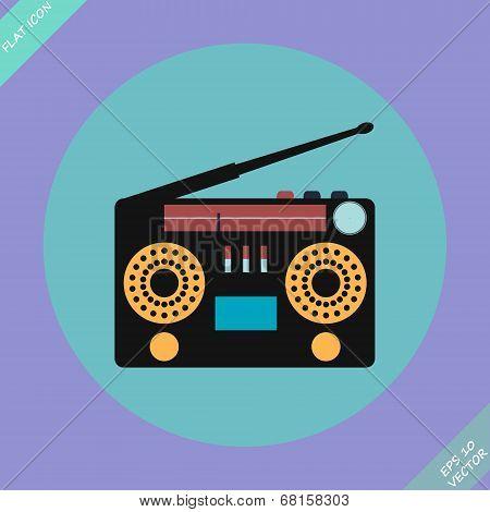 Retro Stereo Radio Cassette Recorder