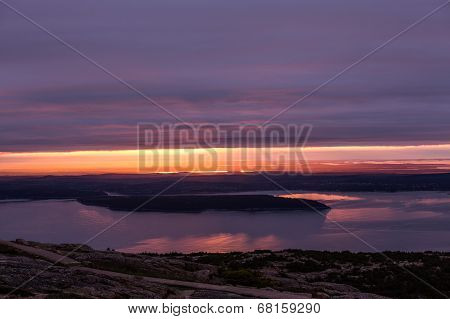 Sunrise at Acadia National Park. Maine.