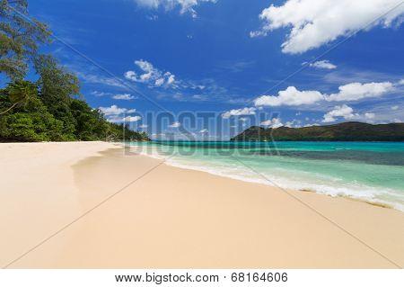 Tropical Beach, Sea And Sky