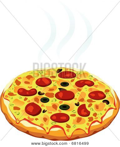hot italian pizza