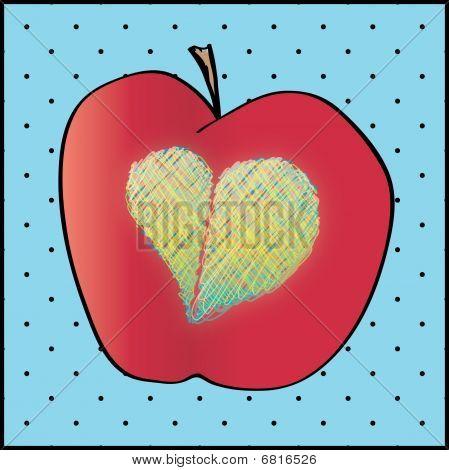 Apple Heart Illustration