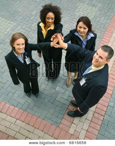 Einheit der Vielfalt Geschäftsleute