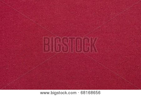 Red Cloth Macro View