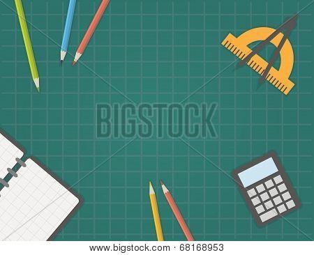 Back to school, vector illustration.