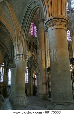 LE MANS,FRANCE,JULY 12: Cathedral of Le Mans (Sarthe, Pays de la Loire, France) -  on July 12,2014 in Le Mans,France