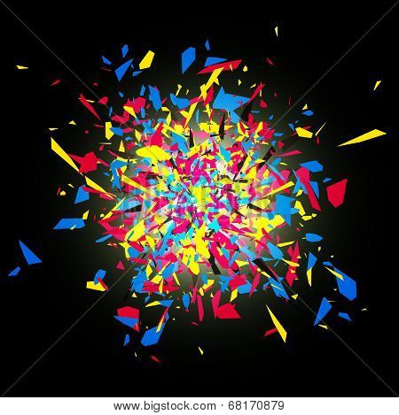 Cmyk Abstract Explosion
