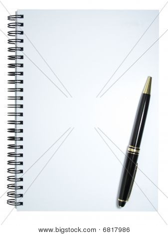 Notebook With Pen Slanted