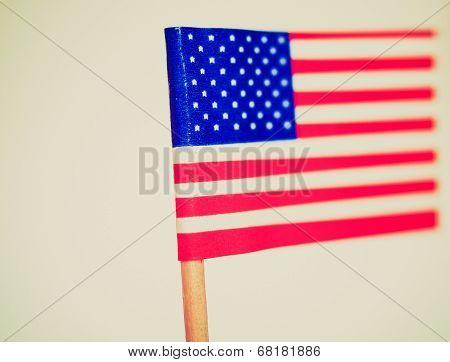 Retro Look American Flag