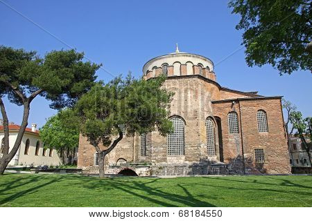 Hagia Irene Church In The Park Of Topkapi Palace In Istanbul