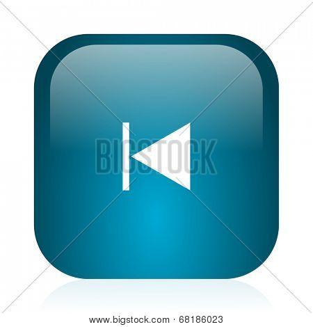 prev blue glossy internet icon