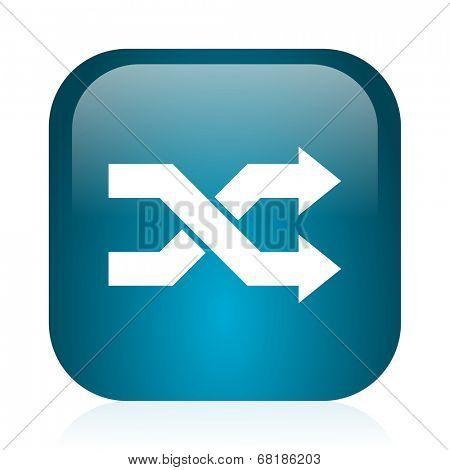 aleatory blue glossy internet icon