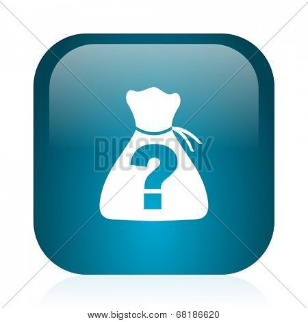riddle blue glossy internet icon