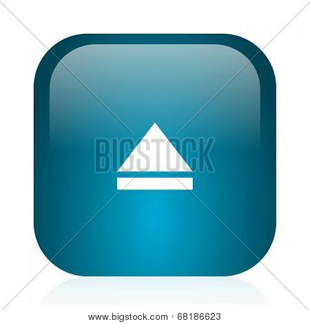 eject blue glossy internet icon