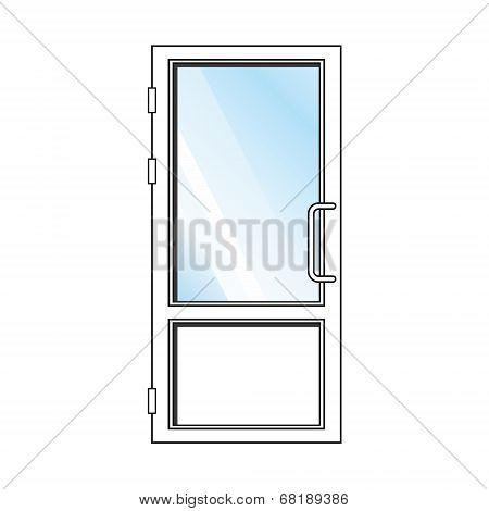 Vector glass door