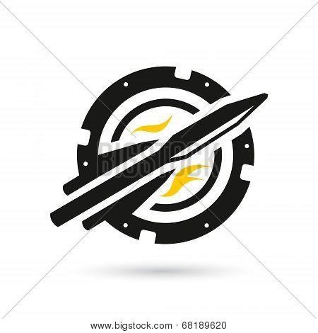 Vector Rocket Into Space