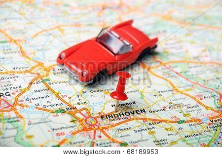 Eindhoven,holland Map  Cabrio