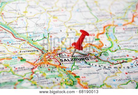 Salzburg ,austria Map