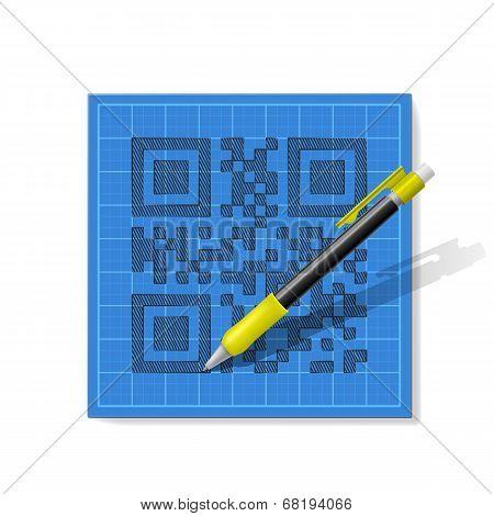 sketch QR-code