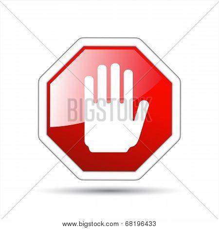 Vector Hand Sign No Entry