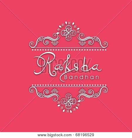 Raksha Bandhan celebration greeting card design with beautiful floral design and stylish text.