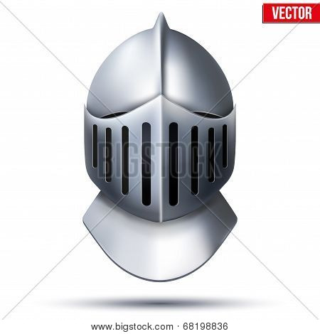 Knight's Helmet. Vector Illustration.