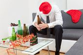 stock photo of alcohol abuse  - Alcohol abuse during holiday period can hurt - JPG