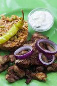 foto of gyro  - closeup of a greek gyros on a plate - JPG