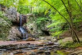 pic of appalachian  - Waterfall in north Georgia mountains near Atlanta - JPG