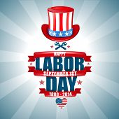 image of labor  - set of vector labels templates on Labor Day a national holiday of the United States - JPG