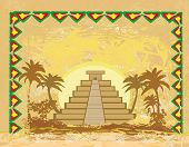 stock photo of ziggurat  - Mayan Pyramid Chichen - JPG
