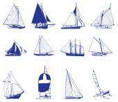 Постер, плакат: Парусная яхта