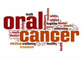 stock photo of oral  - Oral cancer word cloud image with hi - JPG