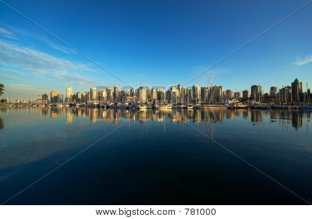 Vancouver harbor pan view
