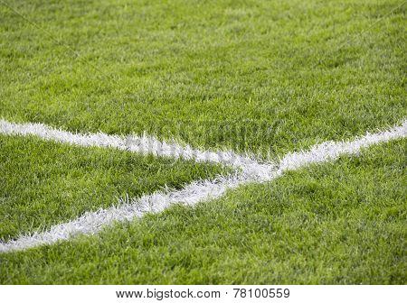 corner line of soccer field