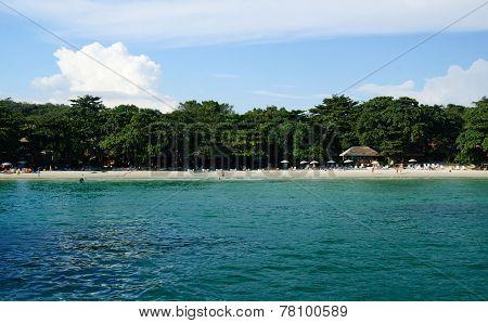 Landscape with horisontal tropical beach