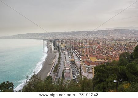 Bad weather in Nice, South of France