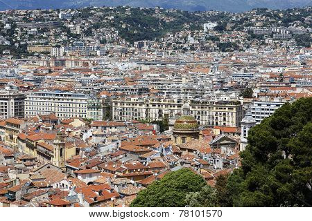 Aerial View Of The Old Town Of Nice