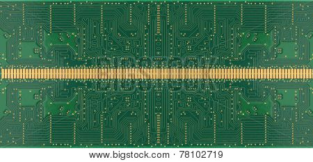 Green Of Electronic Circuit Board.