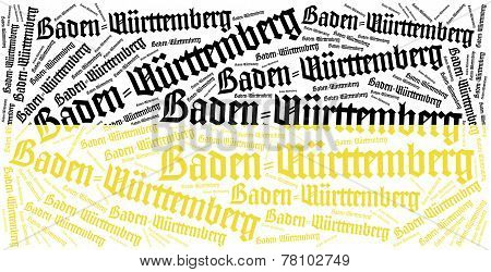 Flag Of German State. Word Cloud Illustration.