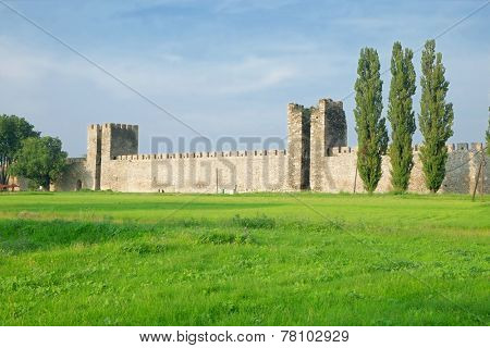 Smederevo Fortress defensive wall, Serbia